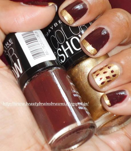 Maybelline Color Show Nail Lacquers - Shade Choco Sin and Bold Gold Review