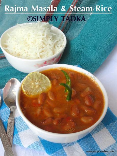 Rajma Masala and Steam Rice