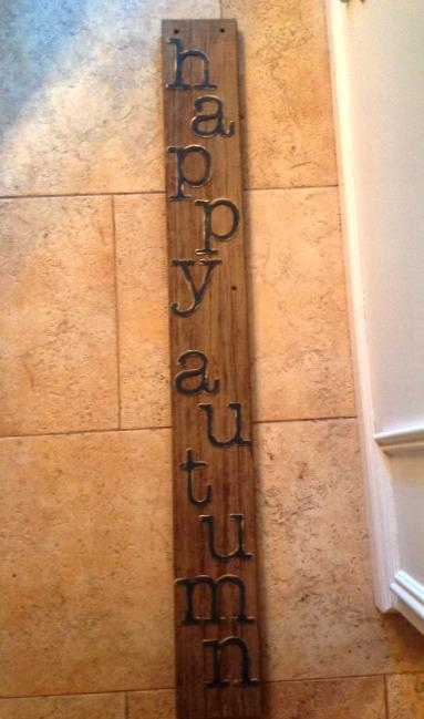a happy autum diy sign for the porch