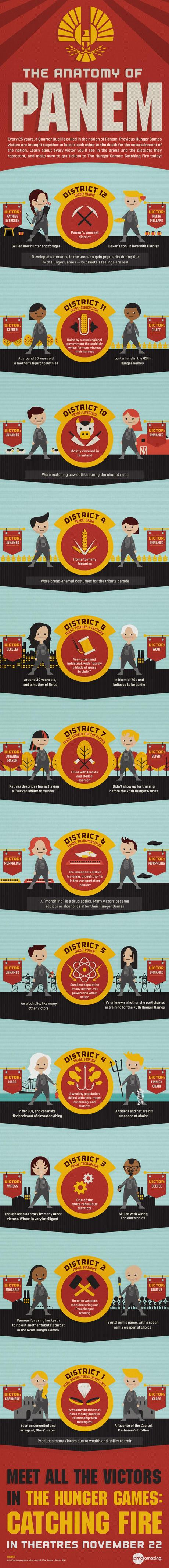 The Anatomy of Panem - Hunger Games: Catching Fire [Infographic]
