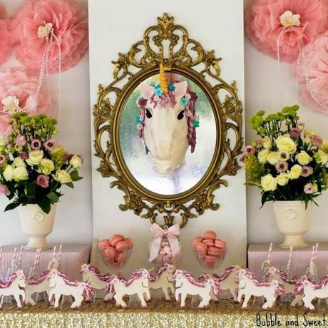 Magical and Whimsical Unicorn Themed 7th Birthday Party by Bubble and Sweet.