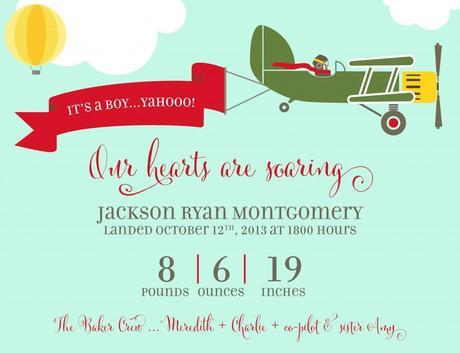 Personalized birth announcements, baby announcements, baby boy announcements, airplane themed birth announcements,aviation_birth_print,Cantoni font, calligraphy fonts, cript fonts, modern calligraphy fonts, hand lettering, hand lettered fonts, fancy fonts, best selling fonts, most popular fonts, fonts for invitations, myfonts, rising star september 2013