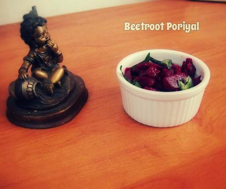 Beetroot Poriyal | Beetroot Stirfry