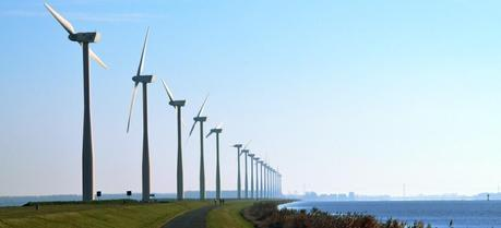 A wind farm in the Netherlands (Credit: Flickr @ Floris Oosterveld http://www.flickr.com/photos/floris-oosterveld/)