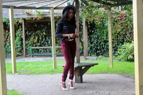 Today I'm Wearing: Burgundy Baroque