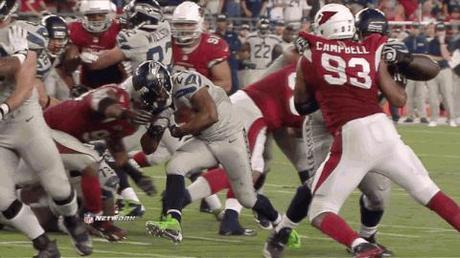 Marshawn Lynch Goes Beast Mode On Darnell Dockett's Face