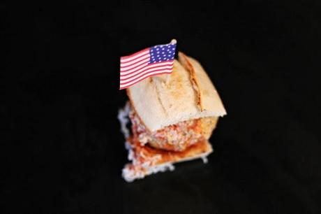 Meatball sandwich with Parmesan & herbs #124