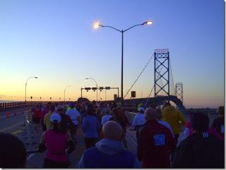 The Detroit Free Press Marathon: The Morning of, The Bridge Over, and the Tunnel Underneath