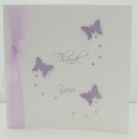 Butterfly Wedding Invitation with crystals