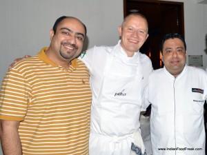 Pawan Soni, Chef Samuli Wirgentus and Chef Manish Mehrotra