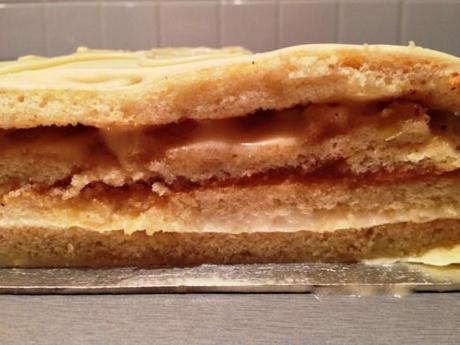 opera cake trimmed layers buttercream caramel dulce de leche apple white chocolte