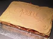 Caramel Apple Opera Cake