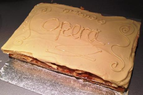 caramel apple opera cake recipe white chocolate topping gbbo great bloggers bake off british