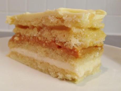 opera cake perfect slice four layers joconde almond sponge buttercream dulce de leche caramel spiced apples french recipe