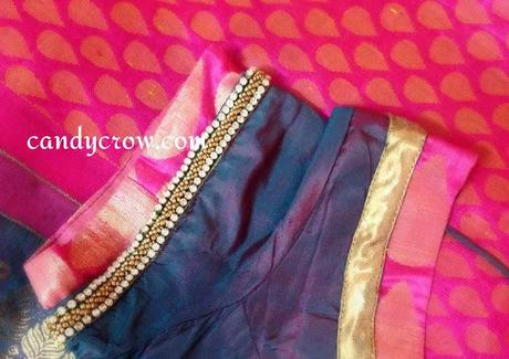 Blouse Design For Kanchipuram Silk Saree Diwali Shopping