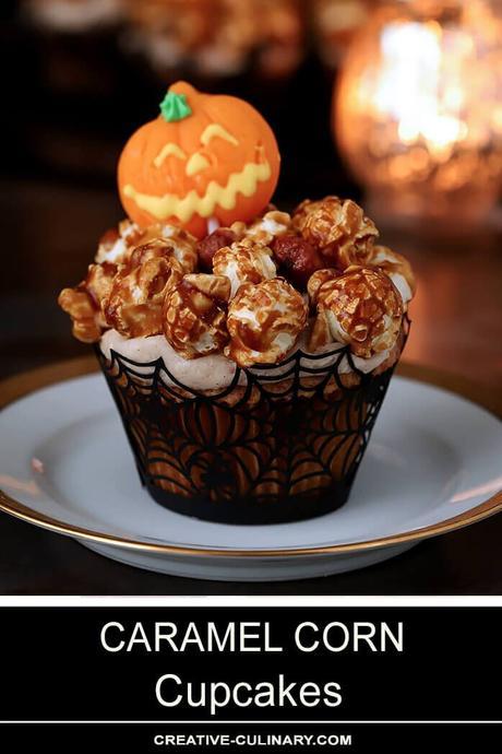 Caramel Corn Cupcakes for Halloween