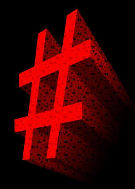 Whether it's to pass that big test, qualify for that big prom. Red 3D Hashtag Symbol Free Stock Photo - Public Domain