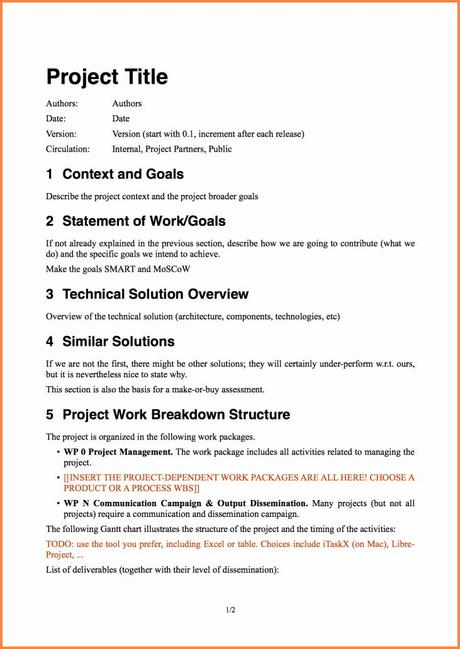 Therefore, it's essential for having a plan for its management. Project Proposal Template Free Lovely 8 software Project