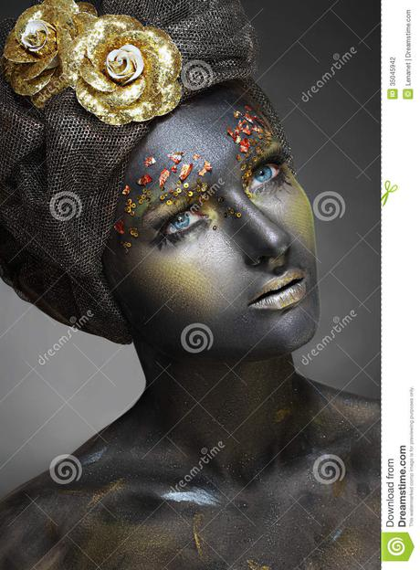 Here is some practical advice for becoming a successful business woman. Woman With Black Face Stock Photography - Image: 35045942