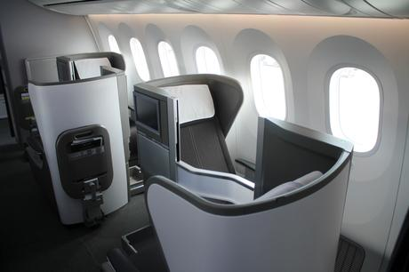 Each travel class has its own flight attendants. British Airways fly Dreamliner to Stockholm in summer