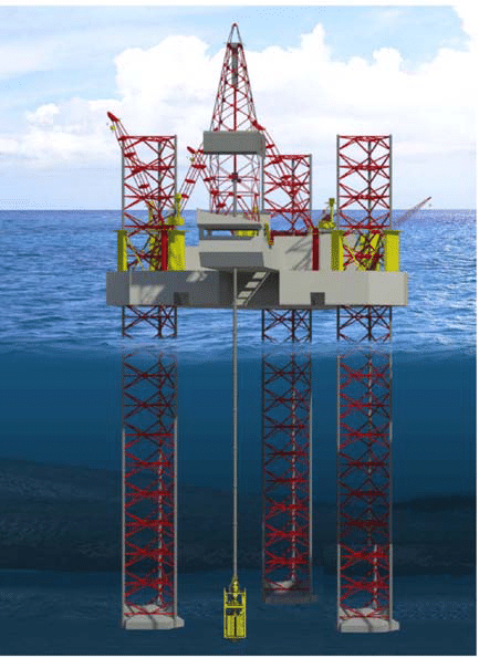 However, natural gas found at the wellhead, though still composed primarily of methane, is not pure. Jack-up drilling rig unit with a surface Blow Out