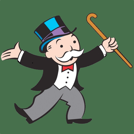 Click on the background of your logo using the magic wand tool to create a selection around your background, then press delete on your keyboard to make it transparent. Your Cbg Business - Monopoly Man Logo Clipart - Full Size ...