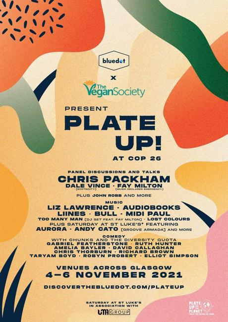 Plate up blue dot the vegan society COP26