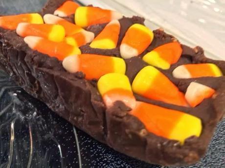 Halloween Candy Fudge #ChocolateParty