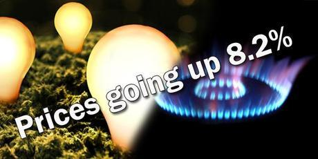 Energy prices up by 8.2%