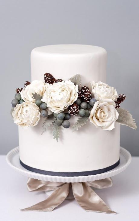 Christmas/Winter Theme Wedding Cake