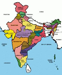 A Political Map of India