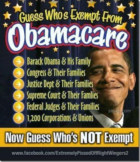 Who's exempt from Obamacare