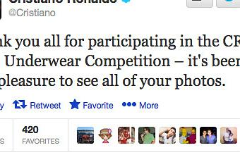 Cristiano Ronaldo's Tweet About Boys Underwear Is Badly Worded ...