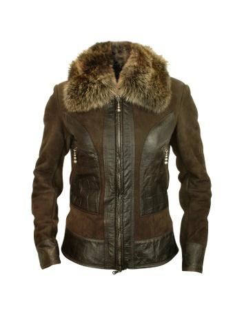 fz43319 028 1x Fur Trim Shearling Jacket