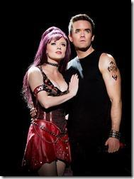 Ruby Lewis and Brian Justin in We Will Rock You