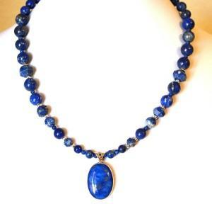 Photo of Sterling Silver Lapis Necklace
