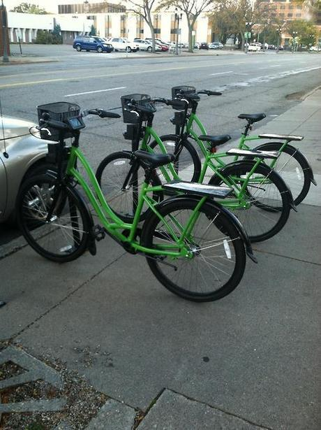 Capital Community Bike Share is up and running. Saw these guys...