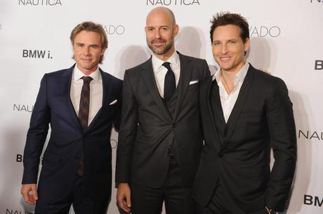 Sam Trammell Peter Facinelli Chris Mitchell GQ Gentlemens Ball 2013 Dimitrios Kambouris Getty