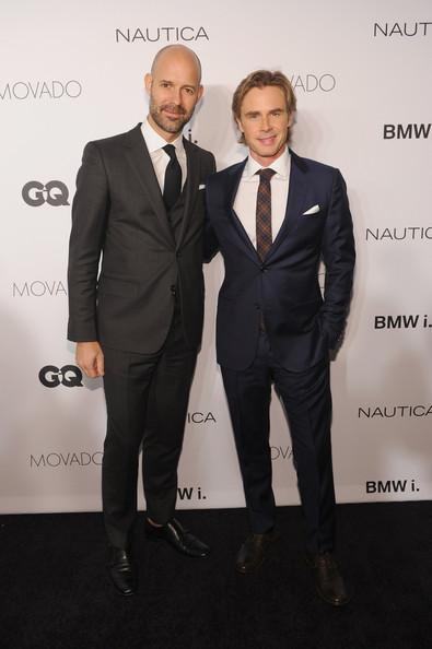 Sam Trammell and Chris Mitchell GQ Gentlemens Ball 2013 Dimitrios Kambouris Getty