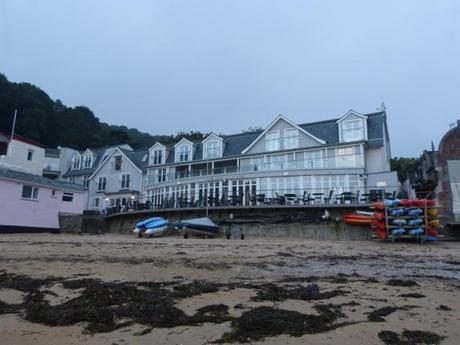 The exterior of South Sands Hotel, Salcombe, Devon