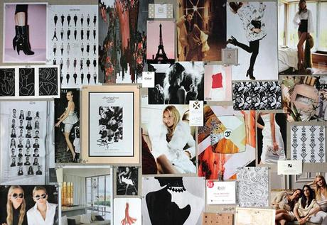 SEASONAL PINBOARD Black, White, Blush & Fur