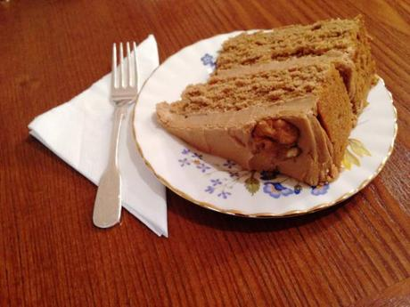 carrot and walnut cake slice tea room afternoon tea the walk nottingham