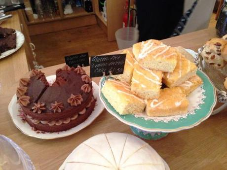 gluten free chocolate and lemon drizzle cakes at the walk cafe nottingham