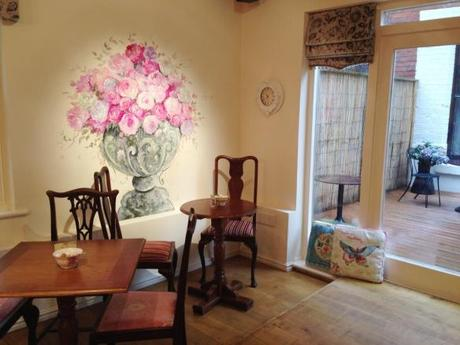 reopened the walk cafe nottingham review hand painted flowers antique furniture