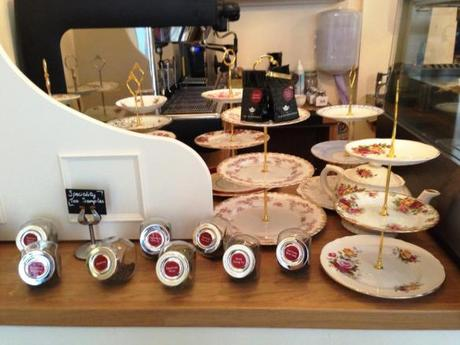 afternoon tea cake stands and loose leaf teas and the walk cafe tea room nottingham
