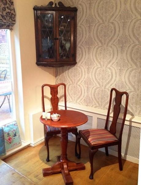 vintage furniture at the walk cafe nottingham tea room decor tables and chairs