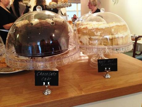 chocolate apple and elderflower homemade cakes at the walk cafe tea room nottingham review