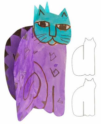 Laurel Burch 3D Cat