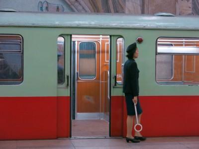 train lady in pyongyang