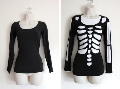 diy skeleton before and after